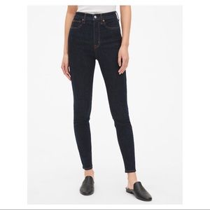 GAP 30R Skinny Super High Rise Jeans